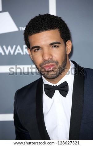 Drake at the 55th Annual GRAMMY Awards, Staples Center, Los Angeles, CA 02-10-13 - stock photo