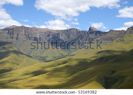 Drakenberg Mountains in South Africa - stock photo