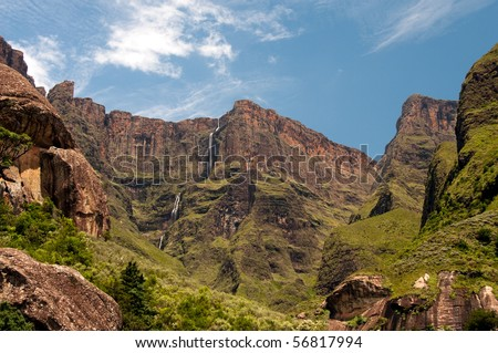 Drakensberg mountains in South Africa - stock photo