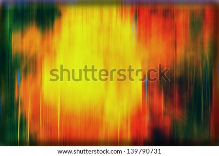 Drama abstract background with a yellow fuzzy spot