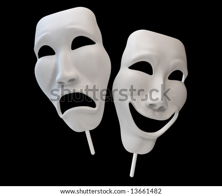 Drama and Comedy Masks - stock photo