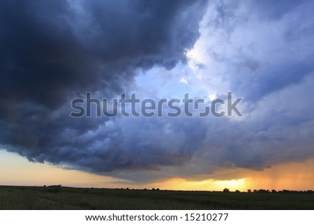 Dramatic and stormy sky full of colors