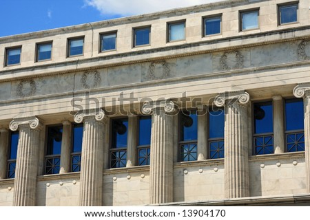 Dramatic Architecture at the Field Museum in Chicago - stock photo