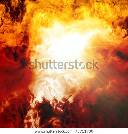Dramatic background - impressive abstract picture of big disaster - stock photo