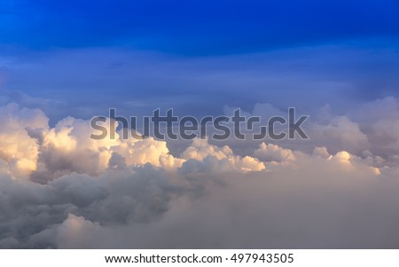 Dramatic cloud background-View from summit