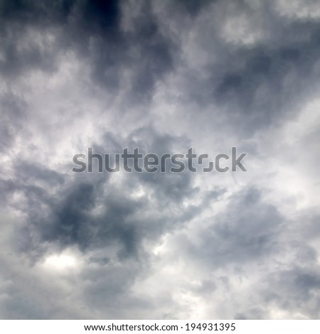 Dramatic clouds - stock photo