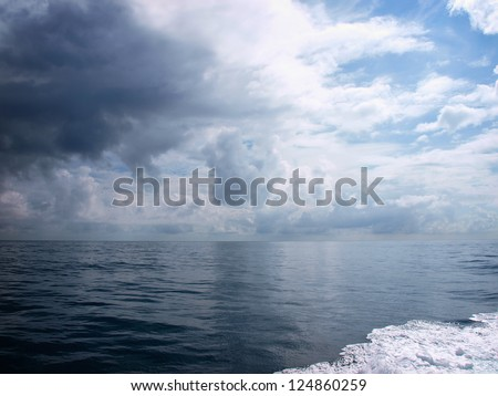 Dramatic clouds over the sea in Hualien, Taiwan - stock photo