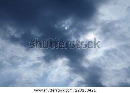 Dramatic cloudscape - stock photo