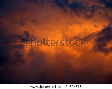 Dramatic cloudscape - stock photo