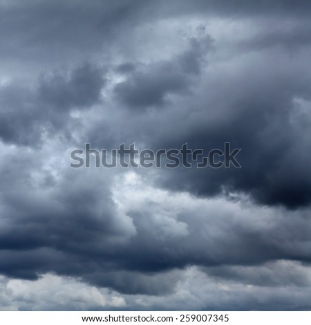 Dramatic Cloudscape Area for Background - stock photo
