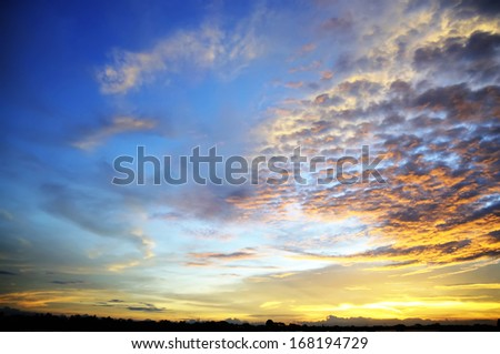 Dramatic cloudscape for your sky design background - stock photo