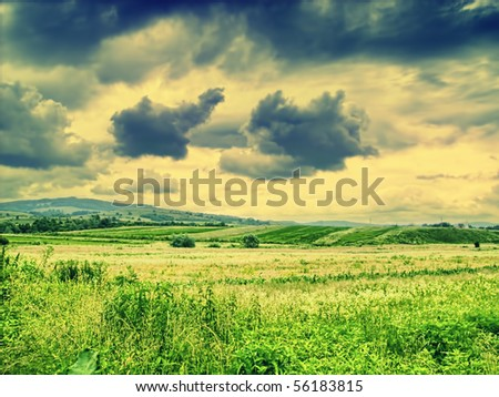 Dramatic countryside landscape