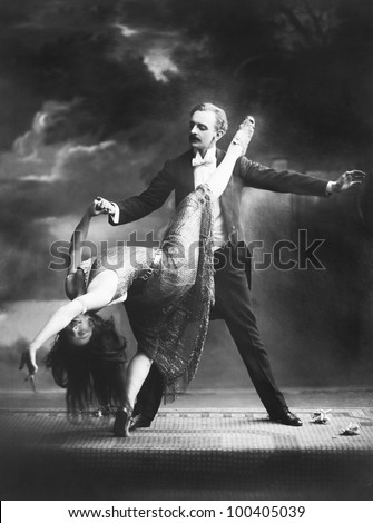 Dramatic dance performance - stock photo