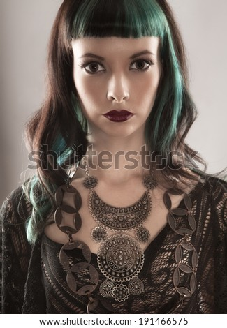 Dramatic Image of Gothic Woman - stock photo
