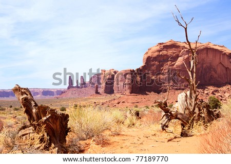 Dramatic landscape in Monument Valley Navajo National Park, Arizona-Utah, USA - stock photo