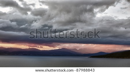 Dramatic landscape in Norway - stock photo