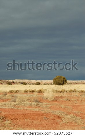 Dramatic Lighting and Colors in Painted Desert - stock photo