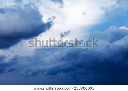 dramatic sky - stock photo
