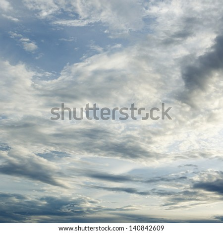 Dramatic sky and clouds background - stock photo