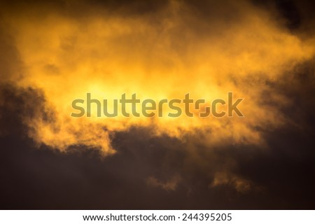 Dramatic sky at an approaching thunderstorm - stock photo