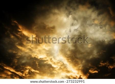 dramatic sky background - stock photo