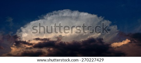 Dramatic sky before thunderstorm - stock photo