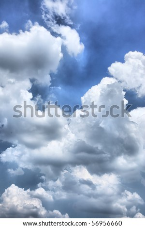 Dramatic sky, may be used as background - stock photo