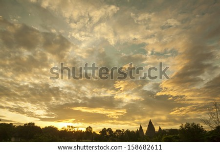 Dramatic sky scenic - stock photo