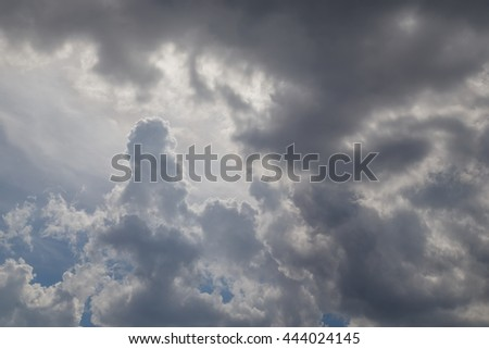 Dramatic sky with the stormy clouds - stock photo