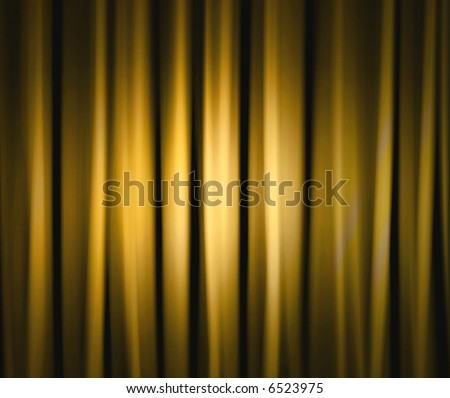 Dramatic Stage Drapes - stock photo