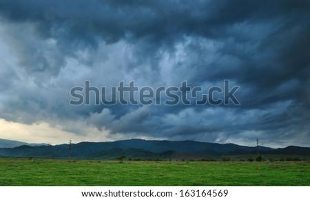 Dramatic storm scene. - stock photo