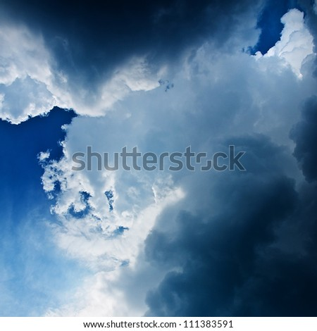 dramatic stormy clouds - stock photo