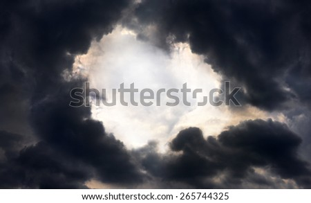 Dramatic stormy clouds for background - stock photo