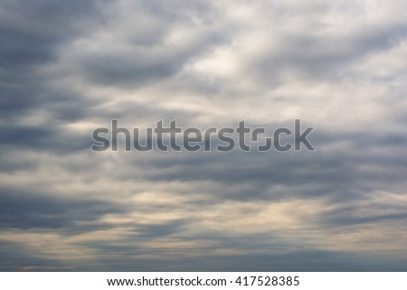 Dramatic stormy clouds sky background - stock photo