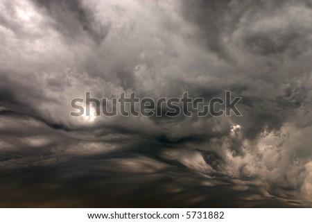 dramatic stormy sky - stock photo
