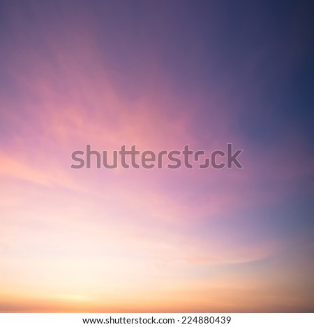 Dramatic sunset and sunrise sky. - stock photo