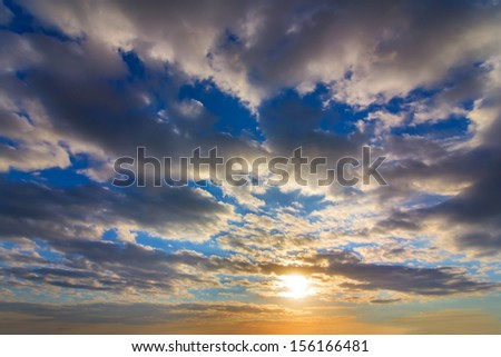 dramatic sunset background