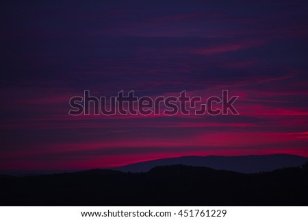 Dramatic sunset over the sea. Sky background