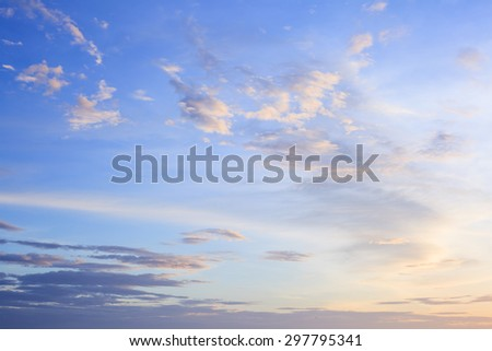 Dramatic Twilight Clouds with Blue Sky Backgrounds - stock photo