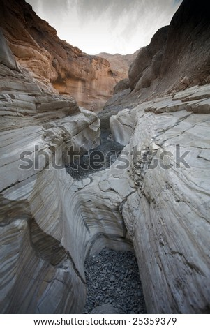 Dramatic View of Mosaic Canyon Death Valley California - stock photo