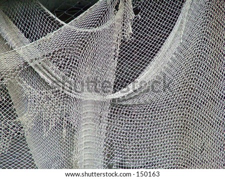 Draped Fishing Nets - stock photo