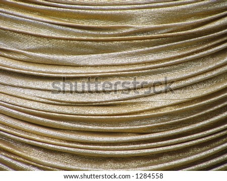 Draped Gold Fabric - stock photo