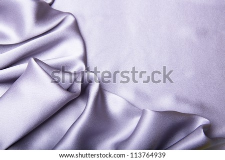 Drapery of silver satin - stock photo
