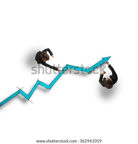 Draw stat - stock photo
