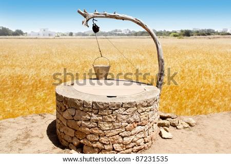 Draw well traditional mediterranean masonry in balearic islands [Photo Illustration] - stock photo