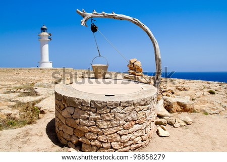 Draw well traditional mediterranean masonry in balearic islands [ photo-illustration] - stock photo