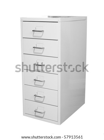 drawer isolated - stock photo