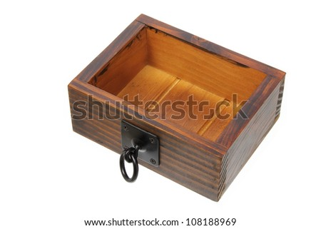 Drawer on White Background - stock photo