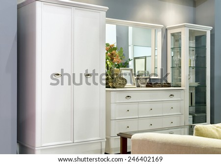 Drawers in living room - stock photo