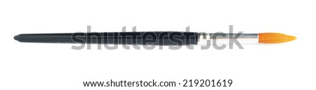 Drawing brush isolated over the white background - stock photo